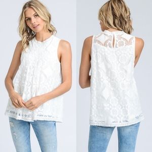 DEBBIE Lace Top - WHITE